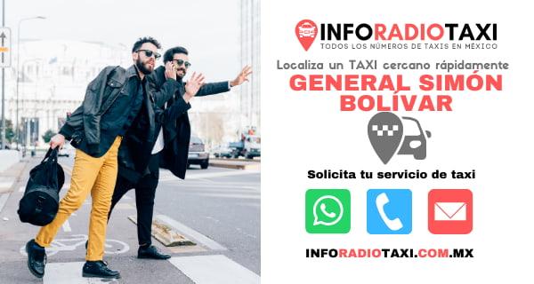 telefono radio taxi General Simón Bolívar