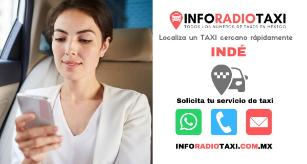 telefono radio taxi Indé